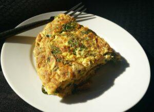 omelette épinards